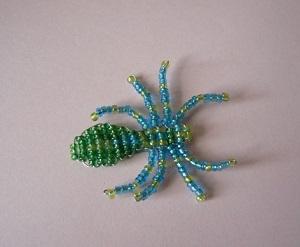 Как из бисера сделать паука маленького